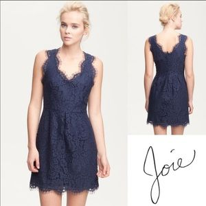 Joie Rori Lace Dress Navy Blue Size Medium